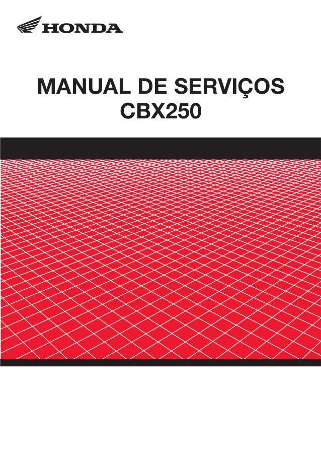 MANUAL DE SERVIÇOS CBX250