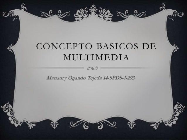 CONCEPTO BASICOS DE MULTIMEDIA Manaury Ogando Tejeda 14-SPDS-1-293