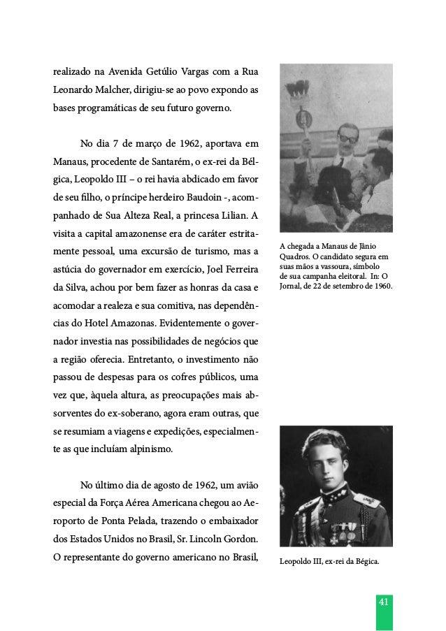 41 realizado na Avenida Getúlio Vargas com a Rua Leonardo Malcher, dirigiu-se ao povo expondo as bases programáticas de se...