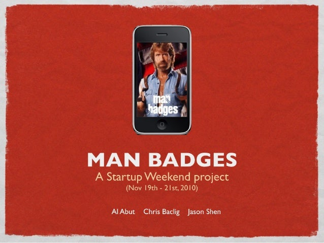 Manbadges: A 2010 Startup Weekend Project