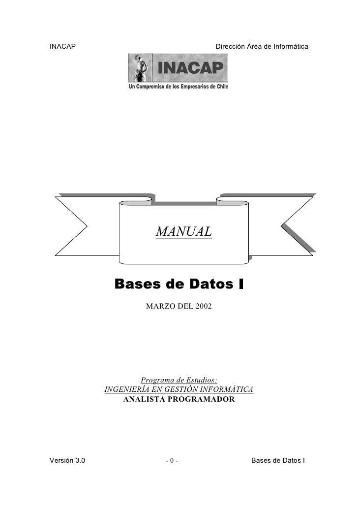 INACAP                                  Dirección Área de Informática                              MANUAL                 ...