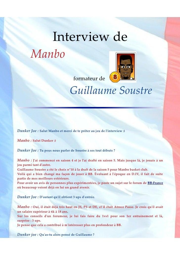 Interview de          Manbo                                       formateur de                                     Guillau...