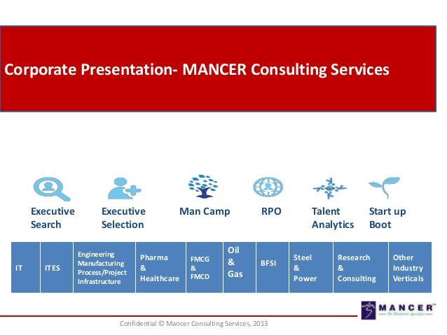 Corporate Presentation- MANCER Consulting Services  Executive Search  IT  ITES  Executive Selection Engineering Manufactur...