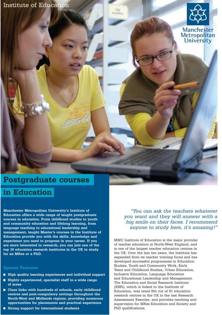 Manchester Metropolitan University - Postgraduate courses - Intelligent Partners