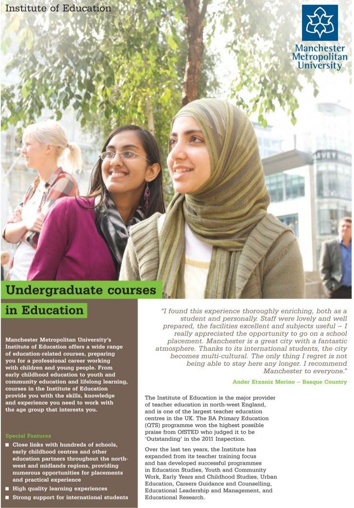 Manchester Metropolitan University - Under Graduate courses - Intelligent Partners