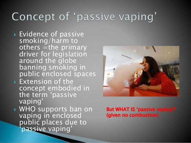  Evidence of passive smoking/harm to others =the primary driver for legislation around the globe banning smoking in publi...