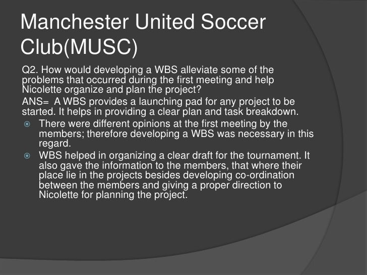 manchester united soccer club nicolette larson Free essays on project management manchester united soccer club  search results for 'project management manchester united soccer  nicolette larson.