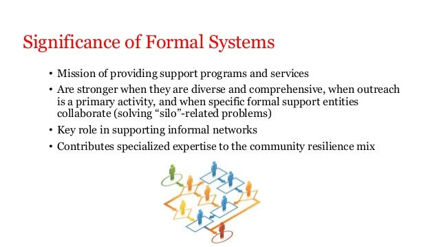 the impact of informal relationships forming within formal organizations Informal groups form within formal systems and their activities have an undeniable impact on organizations' progress nevertheless, managers sometimes fail to realize the pressures of informal groups that influence and regulate individuals' behavior this study examines the impact of informal groups .