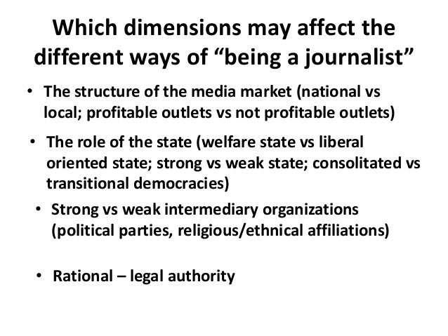 THE ROLE OF QUALITY JOURNALISM IN OUR DEMOCRACY