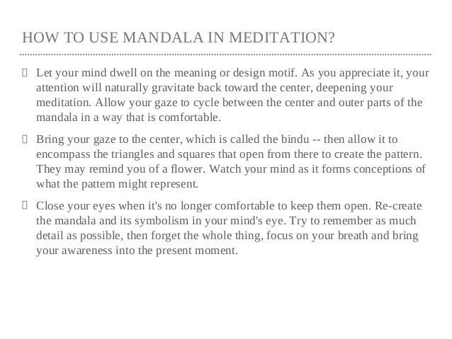 Mandala And Its Symbolic Buddhist Teachings
