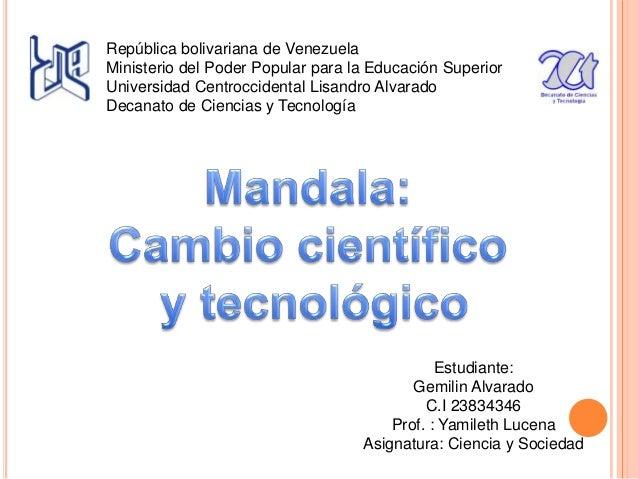 República bolivariana de Venezuela Ministerio del Poder Popular para la Educación Superior Universidad Centroccidental Lis...