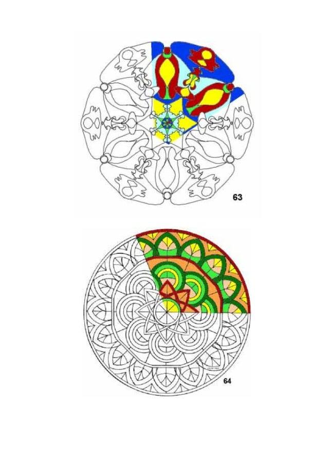 Mandalas para colorear con muestras de color - Colores para colorear ...
