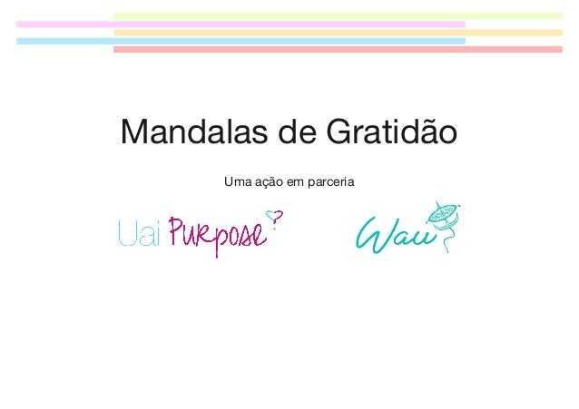 Mandalas de Gratidão Uma ação em parceria