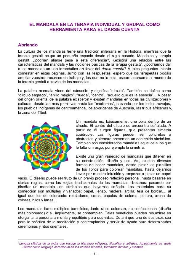 Mandalas gestalt explicación