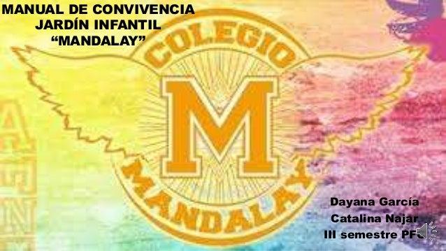 "jh Dayana García Catalina Najar III semestre PFC MANUAL DE CONVIVENCIA JARDÍN INFANTIL ""MANDALAY"""
