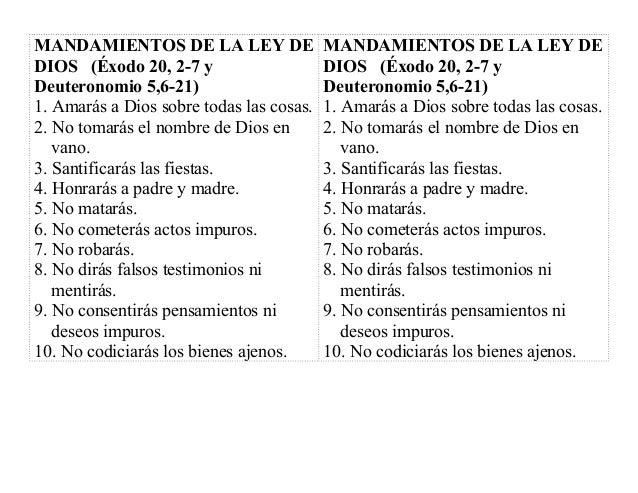 Mandamiento ley de dios - Los 10 locos mandamientos ...