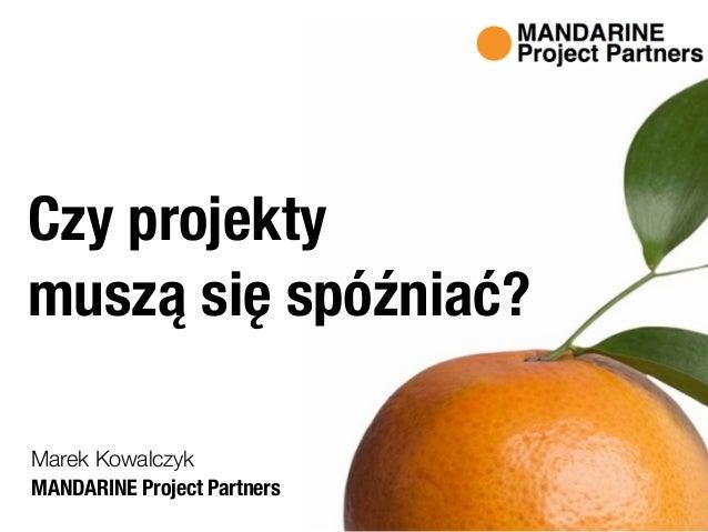 MANDARINE Project Partners Marek Kowalczyk Czy projekty  muszą się spóźniać?