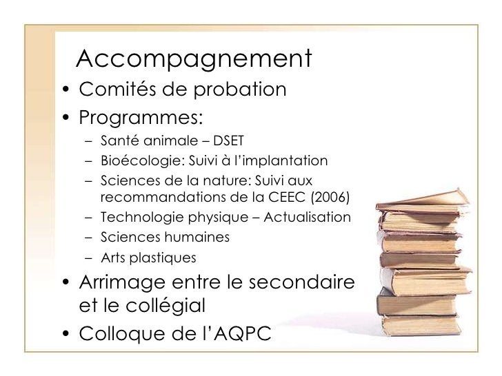 Accompagnement<br />Comités de probation<br />Programmes:<br />Santé animale – DSET<br />Bioécologie: Suivi à l'implantati...