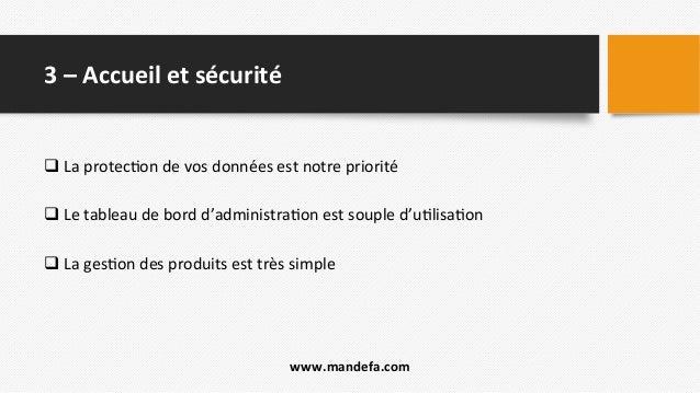 3  –  Accueil  et  sécurité     q  La  protec2on  de  vos  données  est  notre  priorité  ...