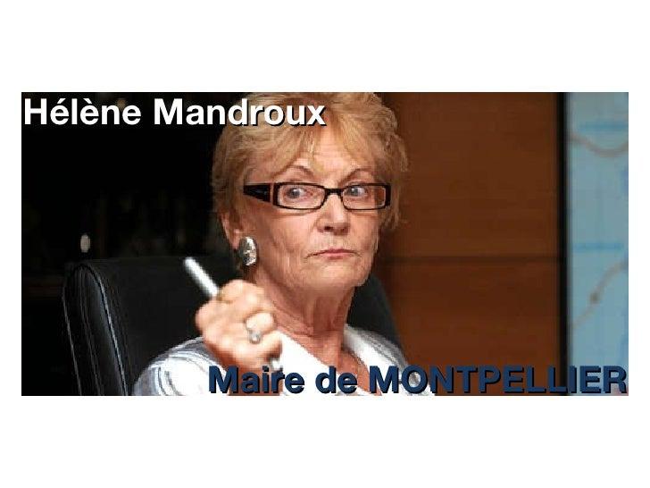 Hélène Mandroux Maire de MONTPELLIER