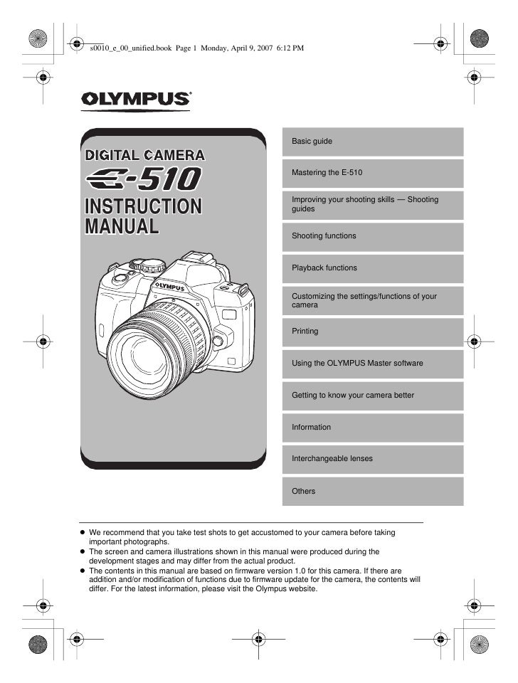 Basic guide                                                               Mastering the E-510                             ...
