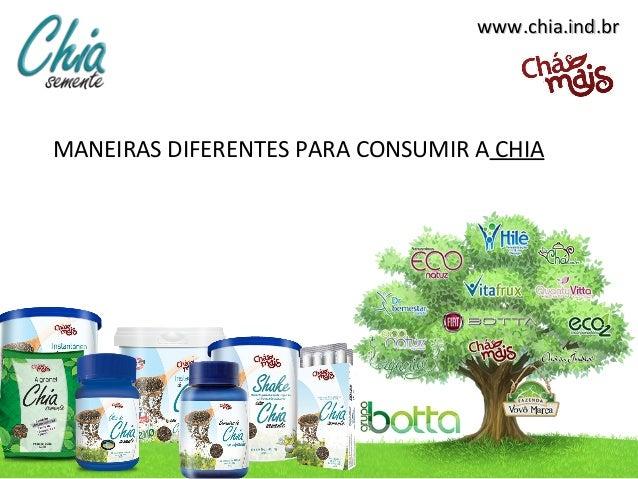www.chia.ind.brwww.chia.ind.brMANEIRAS DIFERENTES PARA CONSUMIR A CHIA