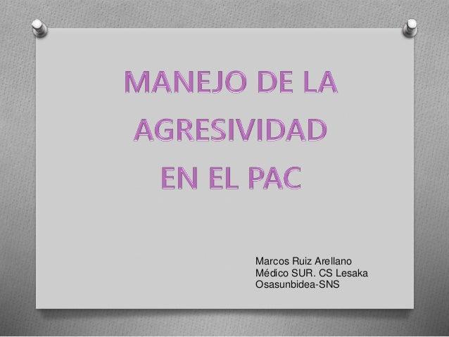 Marcos Ruiz Arellano Médico SUR. CS Lesaka Osasunbidea-SNS