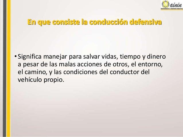 Manejo defensivo1 Slide 2