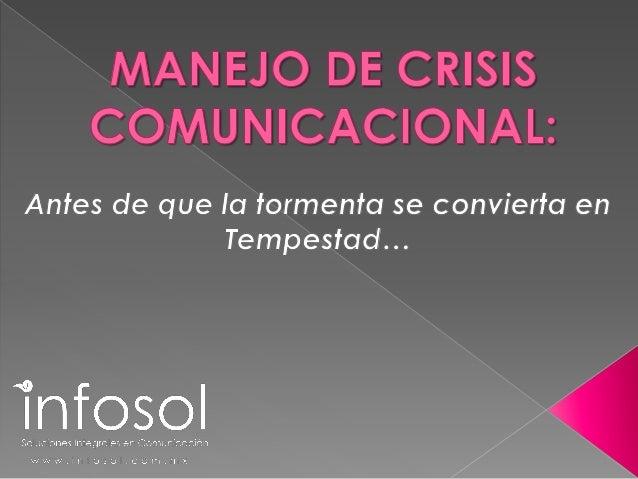 Manejo de Crisis Comunicacional