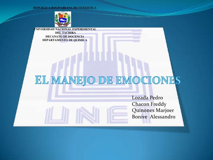REPUBLICA BOLIVARIANA DE VENEZUELA<br />                              UNIVERSIDAD NACIONAL EXPERIMENTAL                   ...
