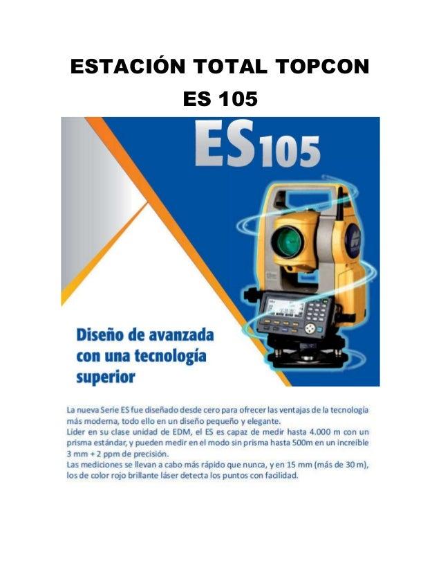 ESTACIÓN TOTAL TOPCON ES 105