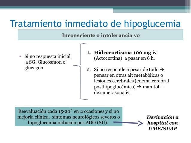 diabetes tipo 1 hipoglucemia tratamiento inconsciente