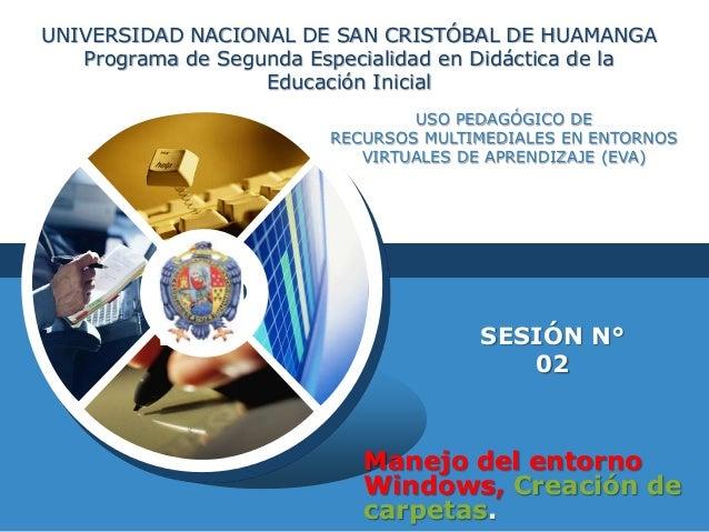 UNIVERSIDAD NACIONAL DE SAN CRISTÓBAL DE HUAMANGA Programa de Segunda Especialidad en Didáctica de la Educación Inicial US...