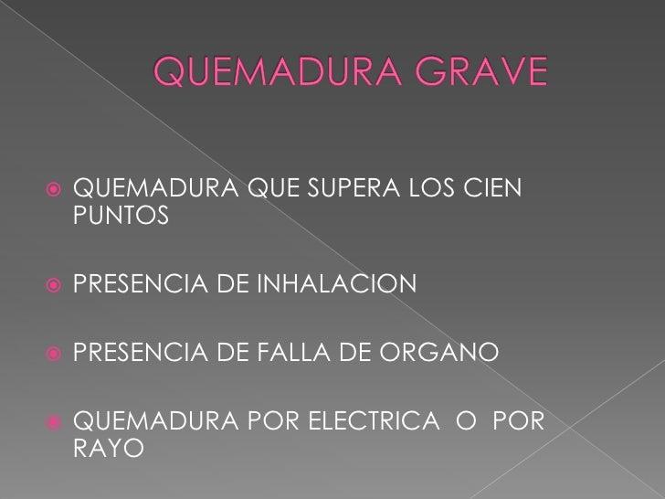 QUEMADURAS CLASIFICACIONREGLA DE LOS NUEVES<br />