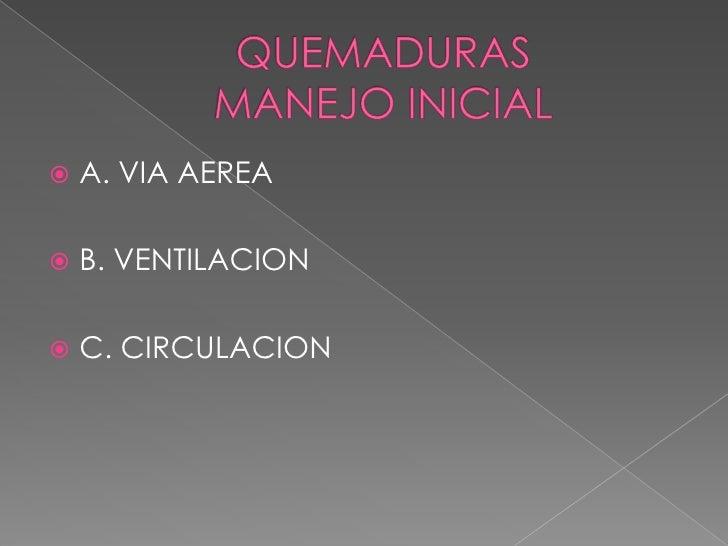 QUEMADURA GRAVE <br />QUEMADURA QUE SUPERA LOS CIEN PUNTOS <br />PRESENCIA DE INHALACION <br />PRESENCIA DE FALLA DE ORGAN...