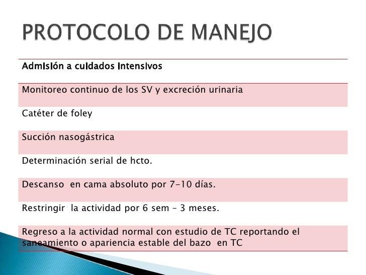 PROTOCOLO DE MANEJO<br />