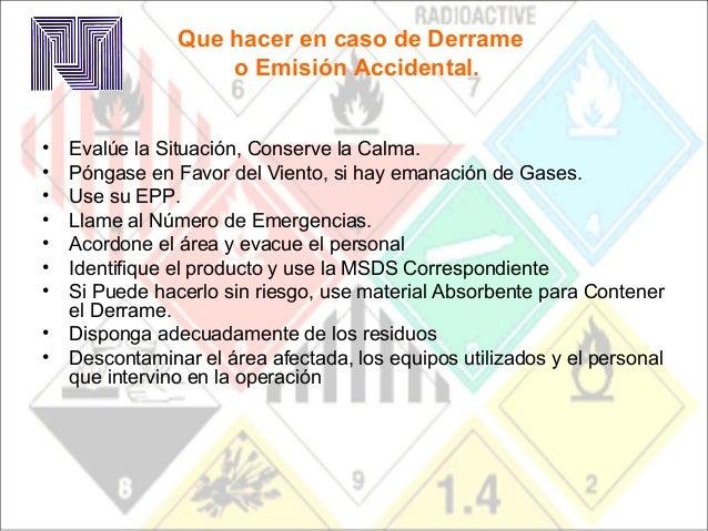 Recomendaciones Que hacer en caso de Derrame