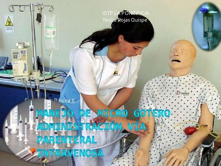 ISTP LA PONTIFICIA                       Yesica Rojas QuispeEnfermería Básica II