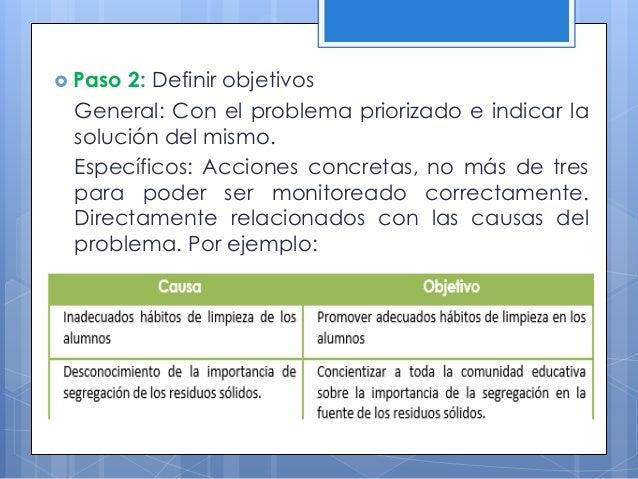  Paso 5: Seleccionar las principales actividades. Son el conjunto de trabajos o acciones organizadas que permitirán cumpl...