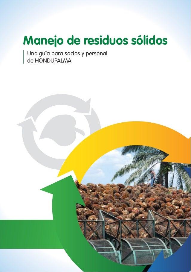 Manejo de residuos sólidos Una guía para socios y personal de HONDUPALMA