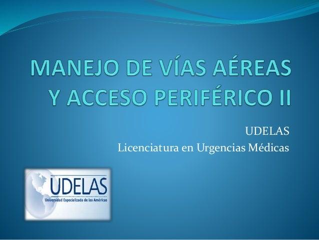 UDELAS Licenciatura en Urgencias Médicas