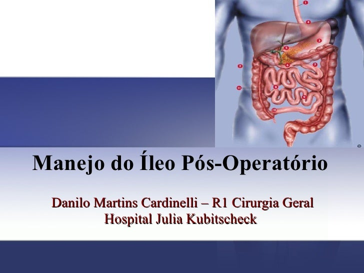 Manejo do Íleo Pós-Operatório   Danilo Martins Cardinelli – R1 Cirurgia Geral Hospital Julia Kubitscheck