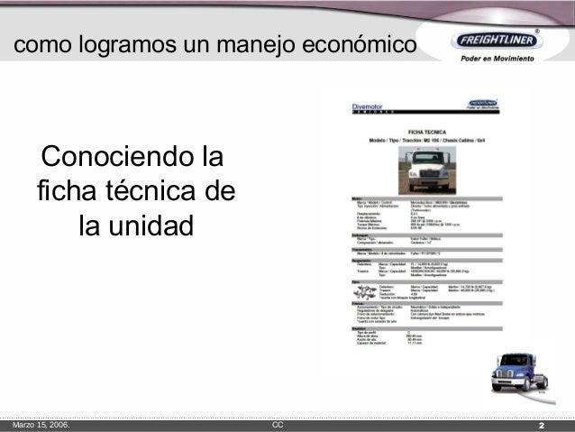 Manejo economico freightliner
