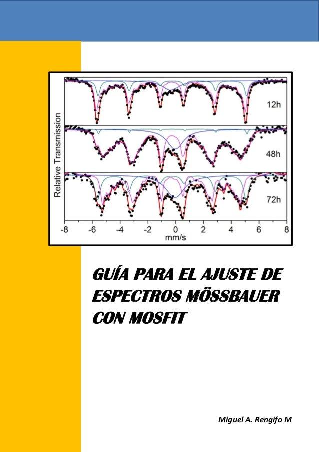 Manejo De Espectros M 246 Ssbauer Con Mosfit V1 1
