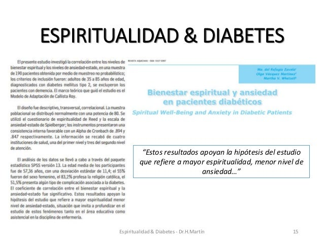 Manejo espiritual de la diabetes