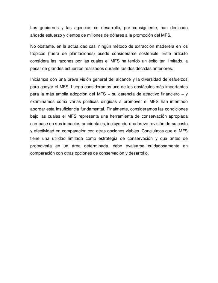 Manejo forestal sostenible Slide 3