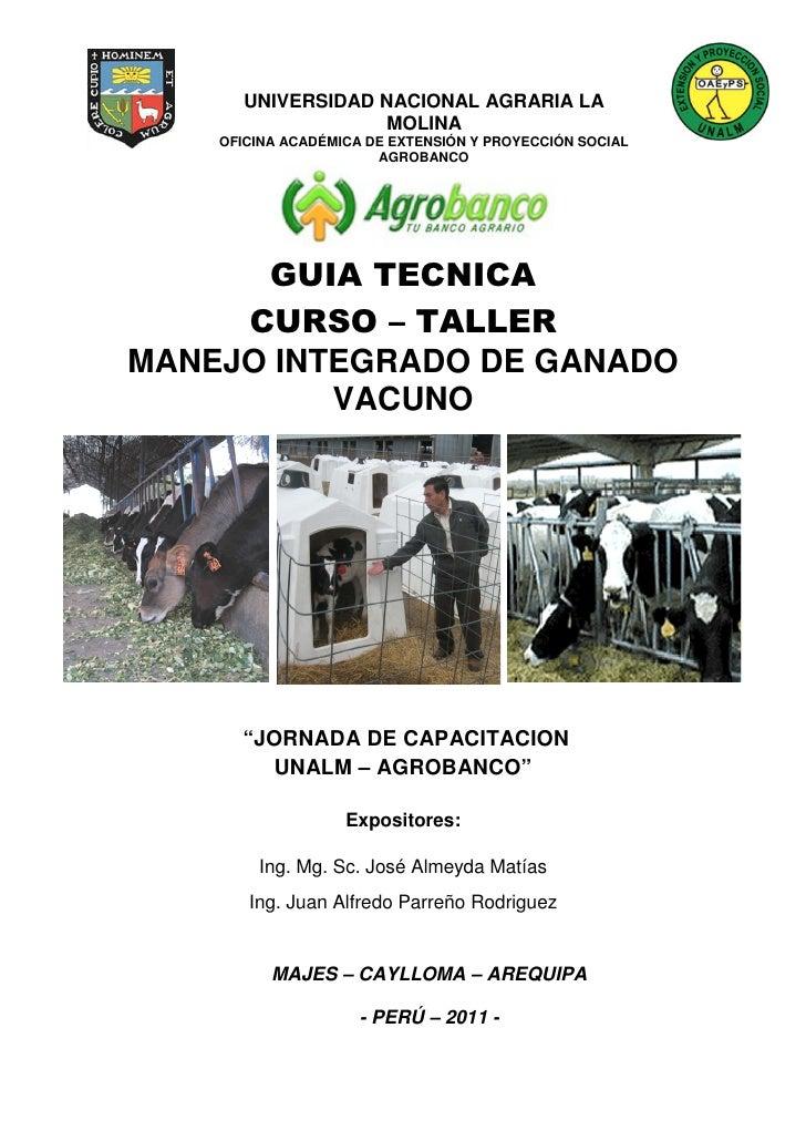 UNIVERSIDAD NACIONAL AGRARIA LA                  MOLINA    OFICINA ACADÉMICA DE EXTENSIÓN Y PROYECCIÓN SOCIAL             ...