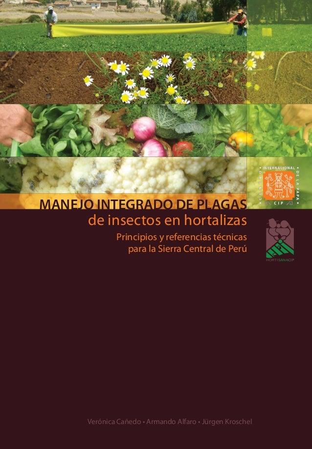 HORTISANACIP Verónica Cañedo • Armando Alfaro • Jürgen Kroschel de insectos en hortalizas Principios y referencias técnica...