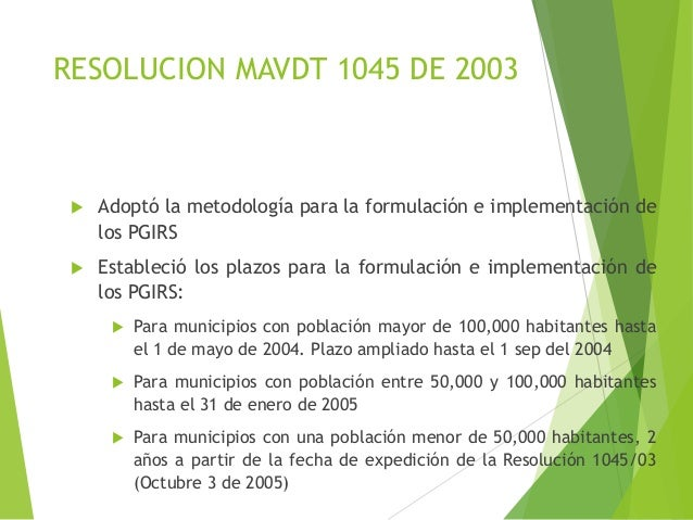 RESOLUCION 1045 DEL 2003 EBOOK