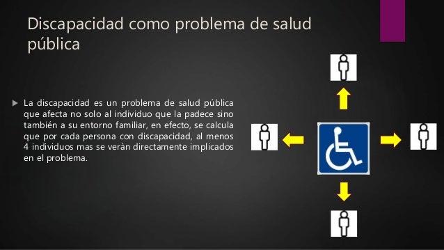 Discapacidad como problema de salud pública  La discapacidad es un problema de salud pública que afecta no solo al indivi...
